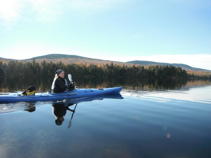Bridid Kayaking Maine 2015